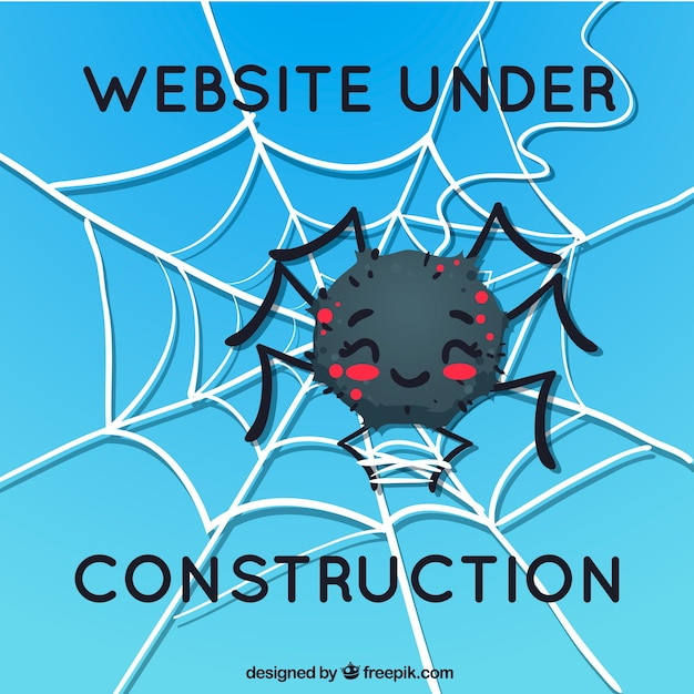 404 error background with a spider Free Vector