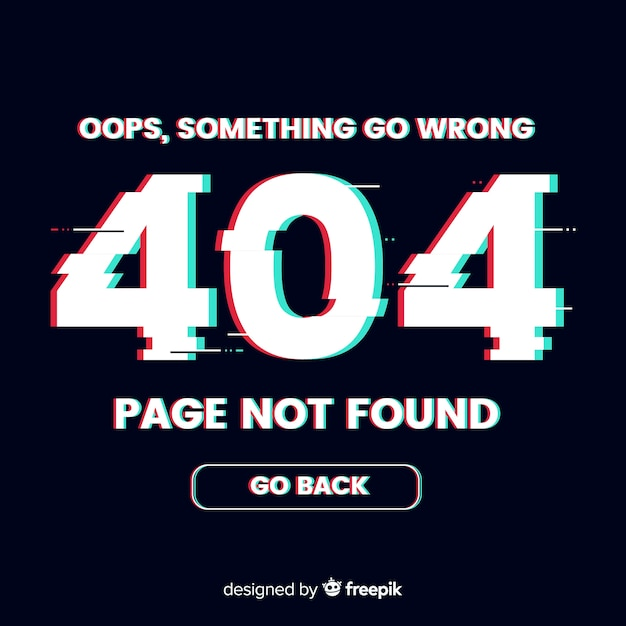 404 error background Free Vector