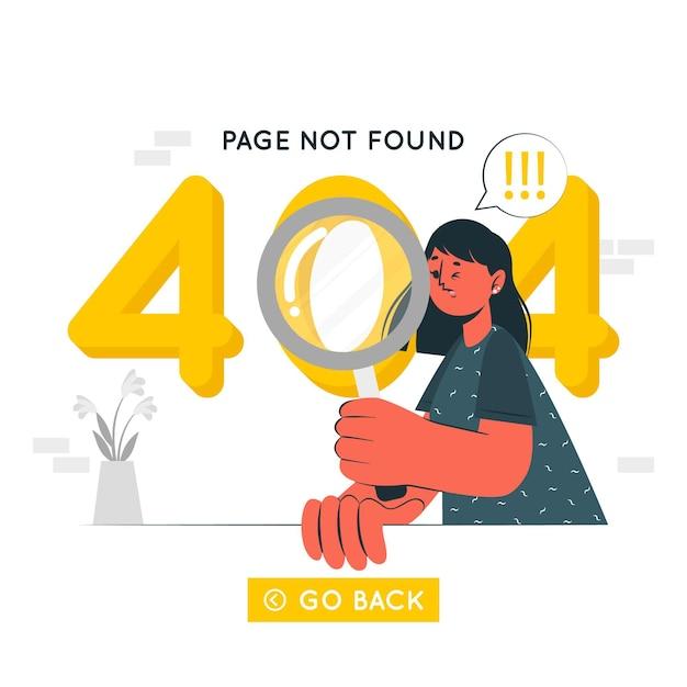 404 ошибка концепции иллюстрации Бесплатные векторы