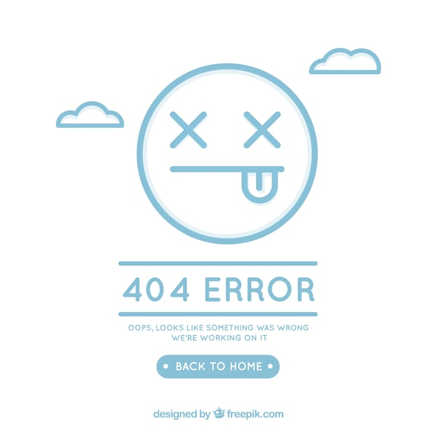 404 error concept with face Free Vector