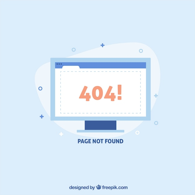 404 error concept with white screen Free Vector