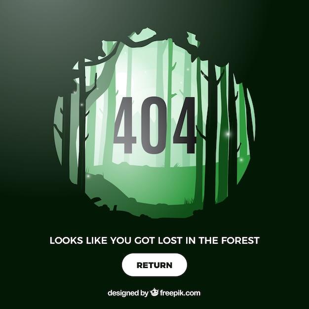 404 error concept Free Vector