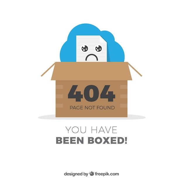 404 error design with box Free Vector