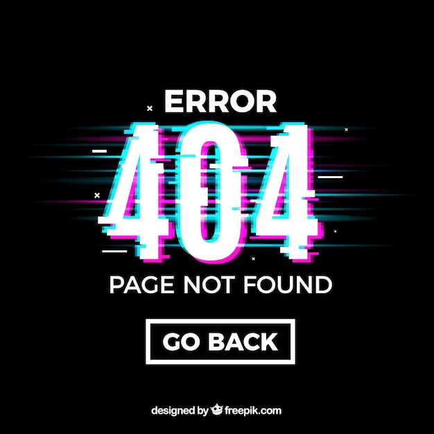 404 error design Free Vector