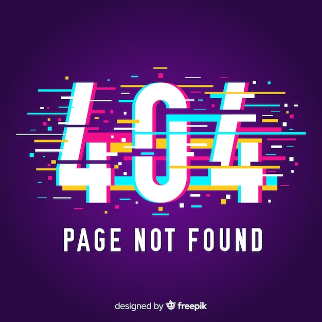 404 error page background Free Vector