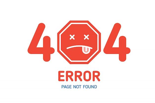 404  error page not found design template for website Premium Vector