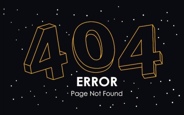 404  error page not found line vector Premium Vector