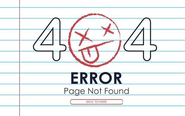404  error page not found  paper note background Premium Vector