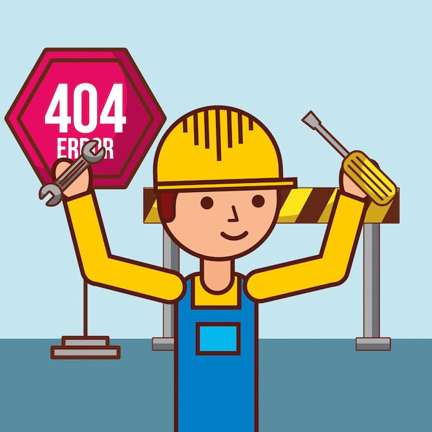 404 error page not found Premium Vector