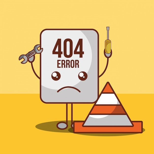 404 error page not found Free Vector