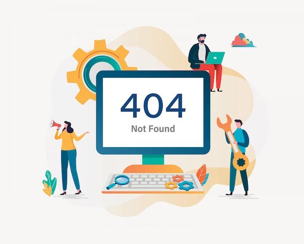 404 error page not found. Premium Vector