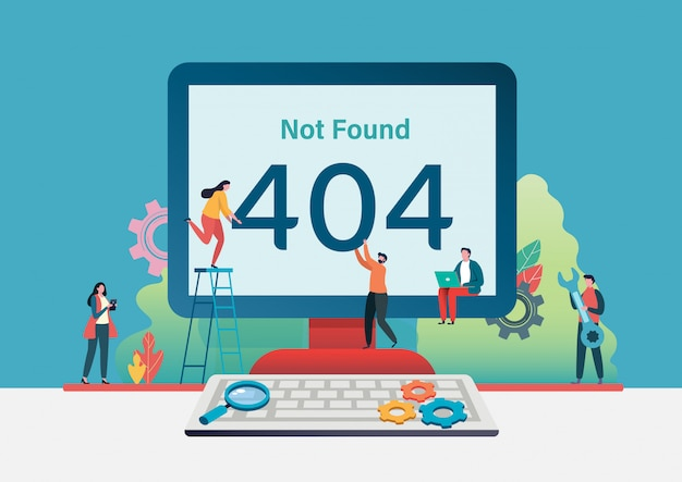 404 error page not found. Premium Vector