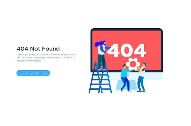 404 error page illustration concept Premium Vector