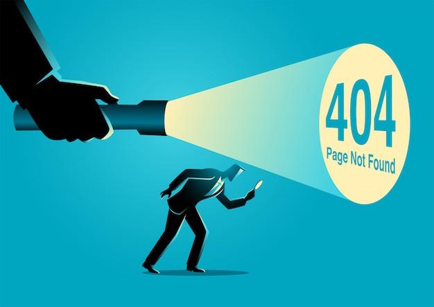 404 страница ошибки не найдена Premium векторы