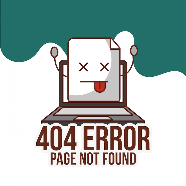 Страница ошибки 404 не найдена Premium векторы