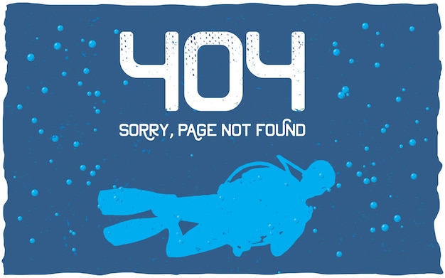 404 error poster with page not found to use for website Free Vector