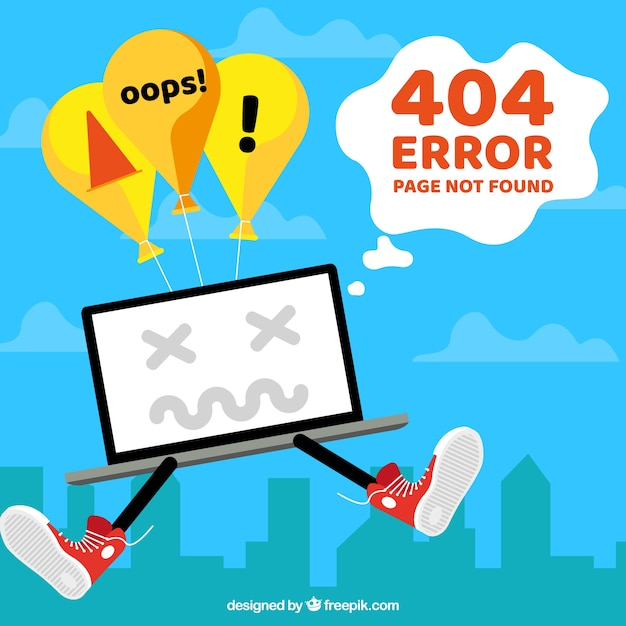 404 error template in flat style Free Vector