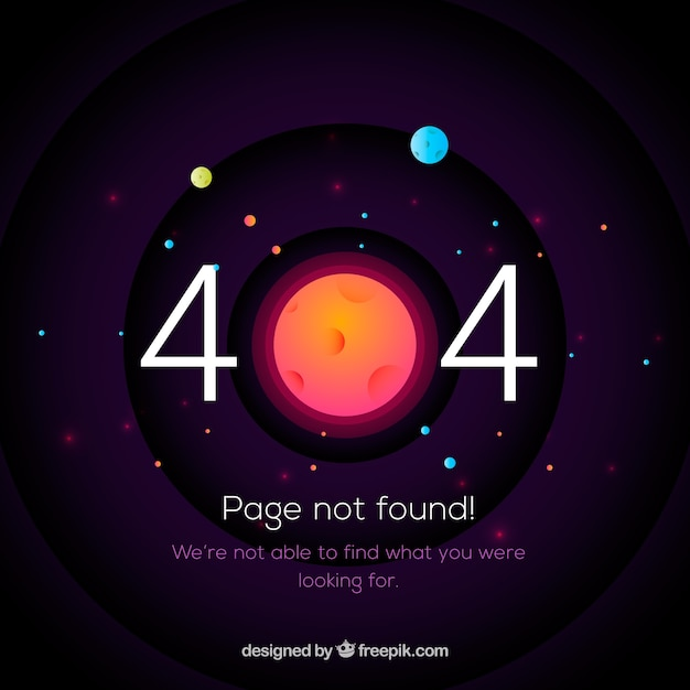 404 error template with space in flat\ style