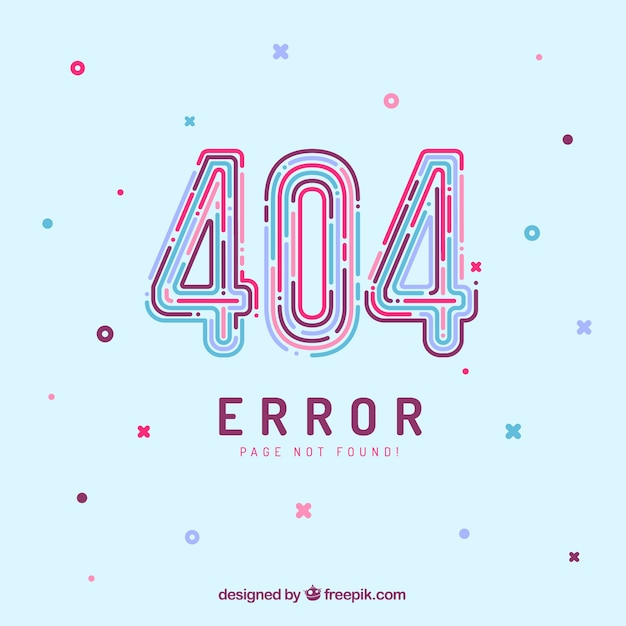404 error web template in flat style Free Vector