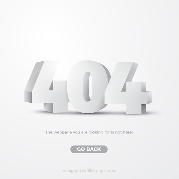 404 error web template in isometric style Free Vector