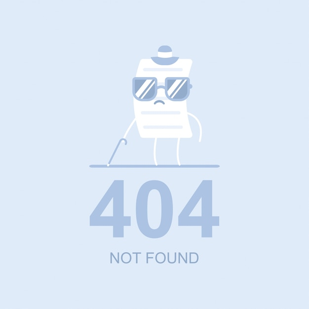 404 not found vector flat concept illustration Premium Vector