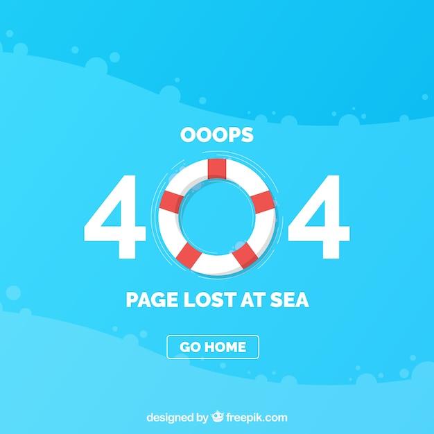 404 шаблон ошибки с lifesaver в плоском стиле Бесплатные векторы