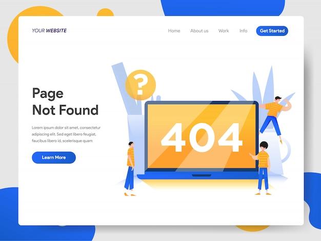 Концепция страницы 404 не найдена Premium векторы
