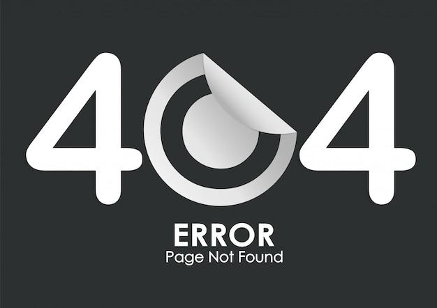 404 sticker error page not found on black Premium Vector