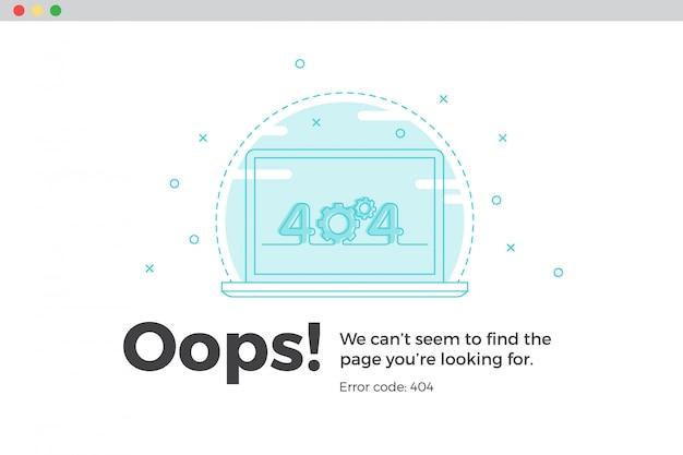 エラー404使用できないwebページ。ファイルが見つかりませんでした Premiumベクター