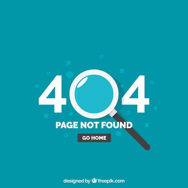404 шаблон ошибки с увеличительным стеклом в плоском стиле Бесплатные векторы