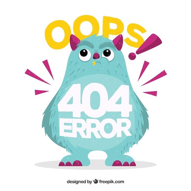 404 веб-шаблон ошибки в плоском стиле Бесплатные векторы