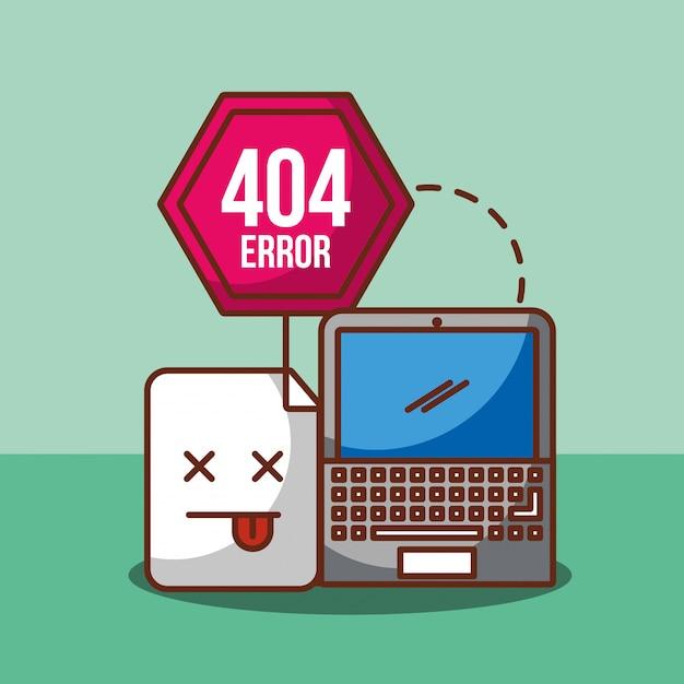 404エラーページが見つかりません Premiumベクター