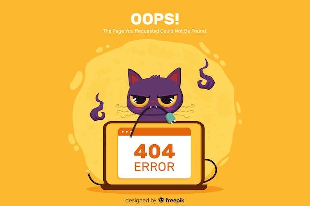 Концепция ошибки 404 для целевой страницы Бесплатные векторы