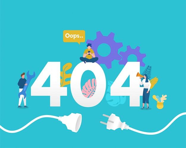 404 страницы не найдены иллюстрации концепции Premium векторы