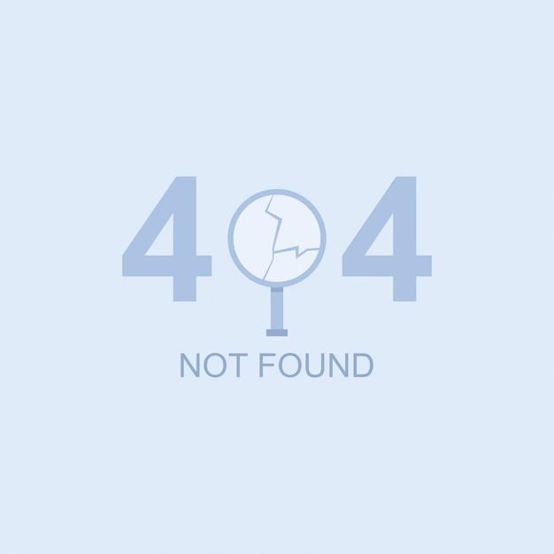 404は、壊れた虫眼鏡でベクトル図を見つけられません。 Premiumベクター