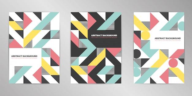 Современный дизайн обложки фона формата а4 Premium векторы