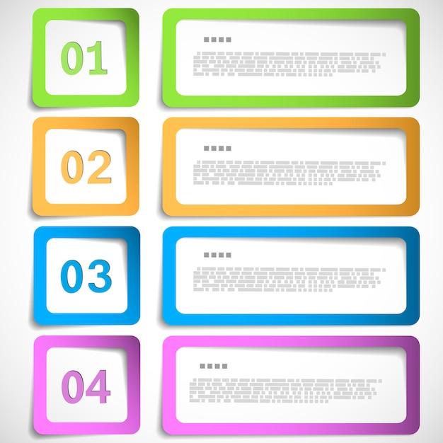4 варианта инфографики Premium векторы