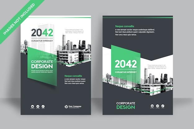 Фирменный шаблон оформления обложки книги в формате а4. Premium векторы
