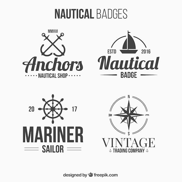 4 морских значки Бесплатные векторы