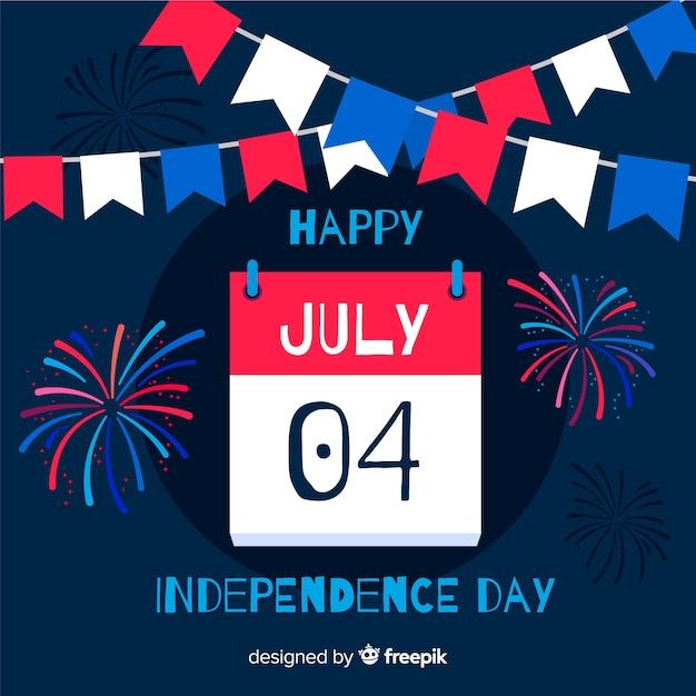 4 июля - день независимости Бесплатные векторы