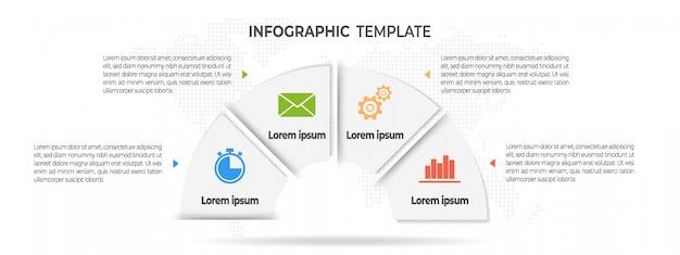 Минимальная инфографика 4 варианта. Premium векторы