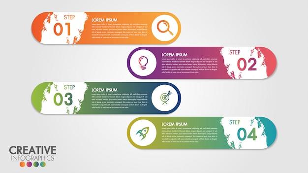 Инфографики современный дизайн вектор шаблон для бизнеса с 4 шагами или вариантами Premium векторы
