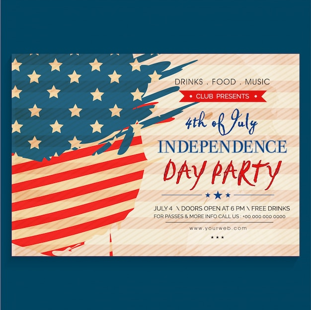 4th Of July American Independence Day Party Celebration