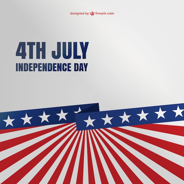 4th of july background Free Vector