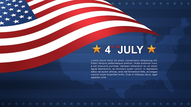 4th of july background. Premium Vector