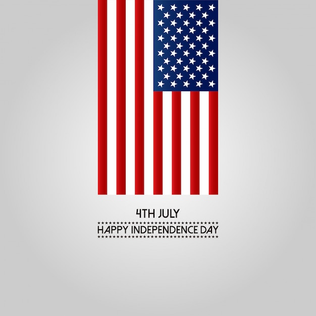 4th of july happy independence day america Free Vector