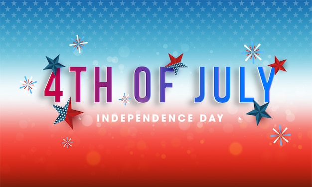 4th of july, independence day design decorated Premium Vector