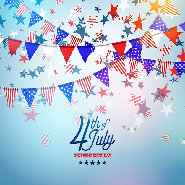 4th of july independence day of the usa vector illustration Premium Vector