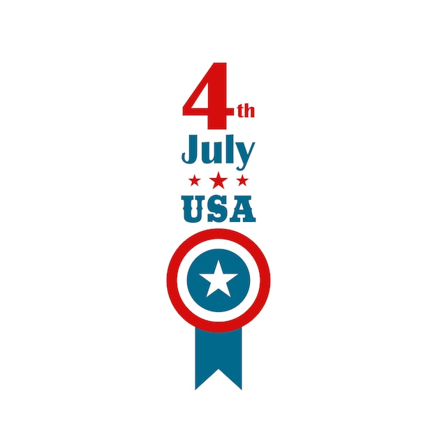 4th of july independence day. vertical banner. Premium Vector