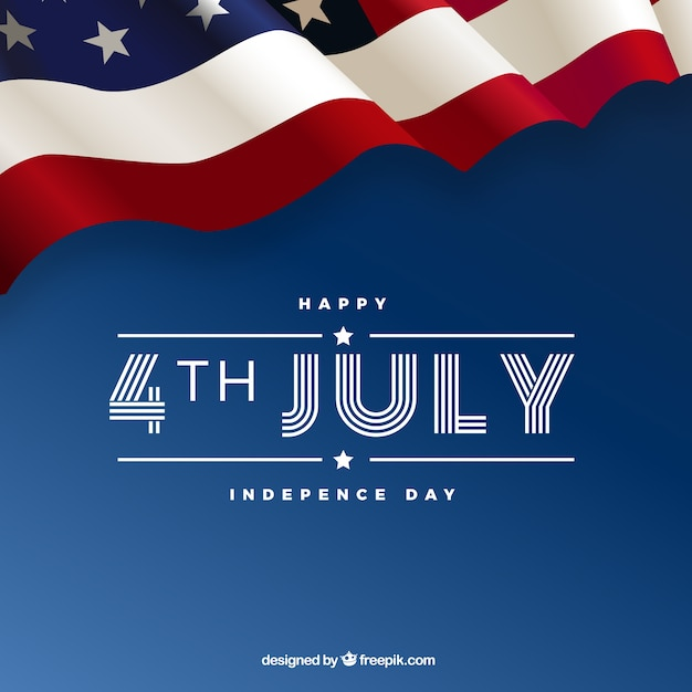 4th of july background with american elements Free Vector